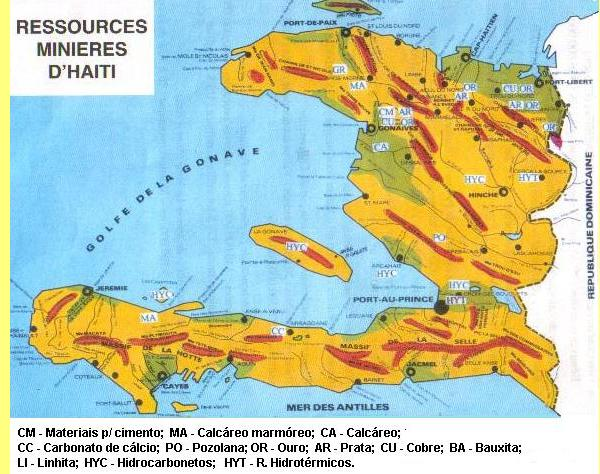 Recursos minerais do Haiti.