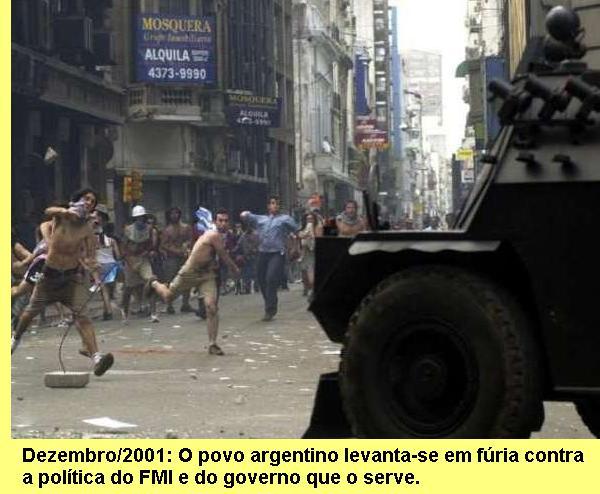 A subleva��o argentina.