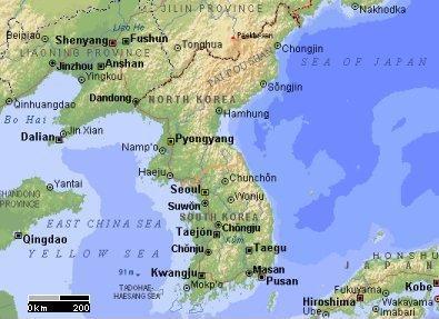 Península  coreana.