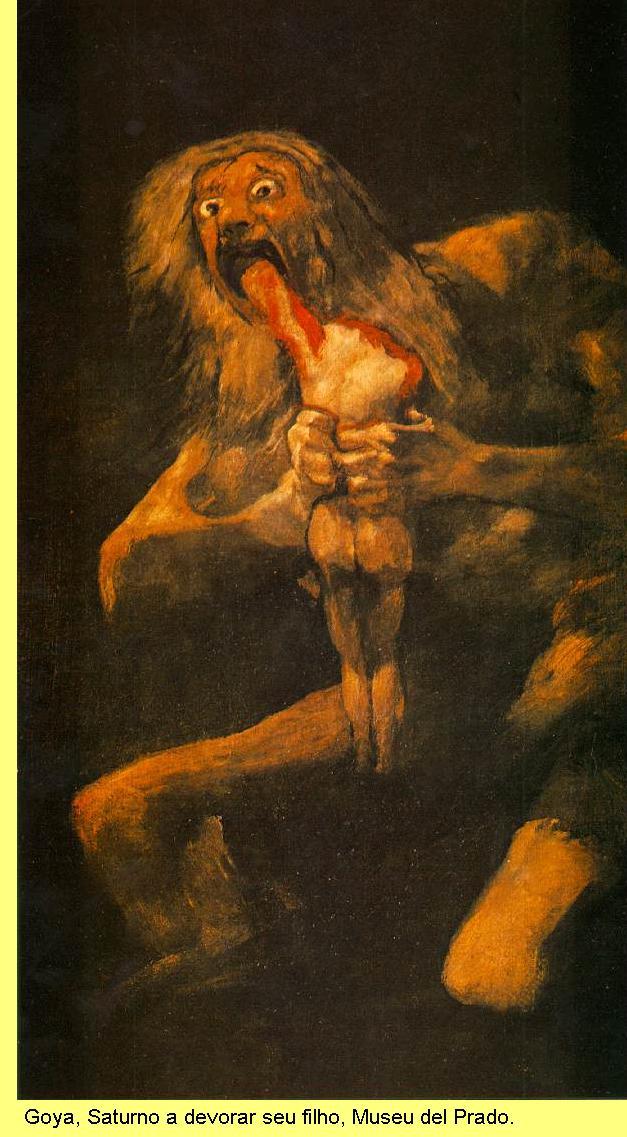 Goya, Saturno a devorar seu filho.