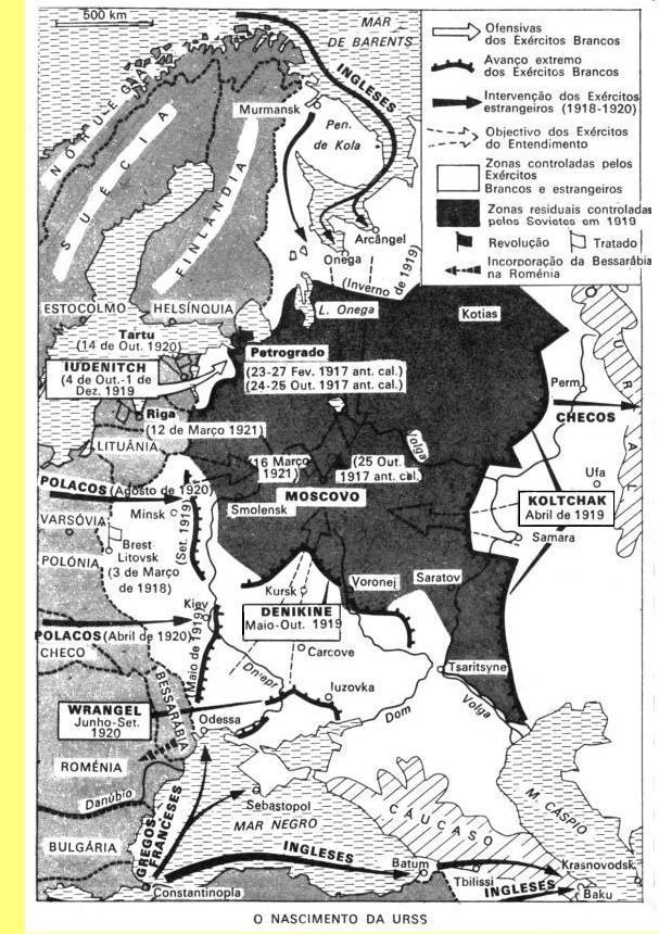 A URSS em 1919.