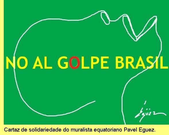 Cartaz de Pavel Eguez, muralista equatoriano.