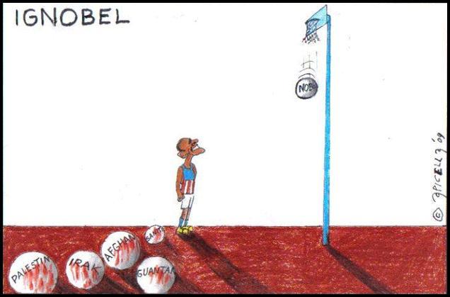 Cartoon de Apicella, publicado em L'Ernesto.