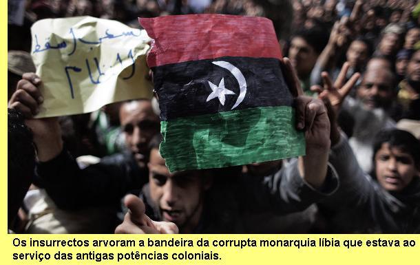 Bandeira da antiga monarquia líbia.