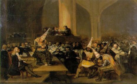 Clique a imagem para ampliar 'A inquisi��o', de Goya.
