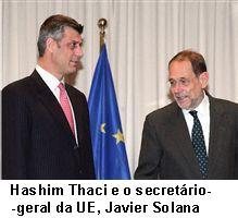 Thaci e Javier Solana.