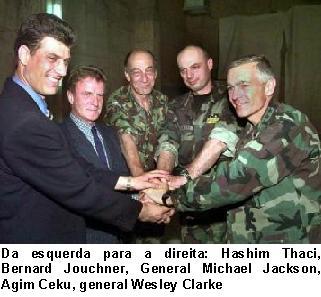 Thaci e Ceku com a NATO.