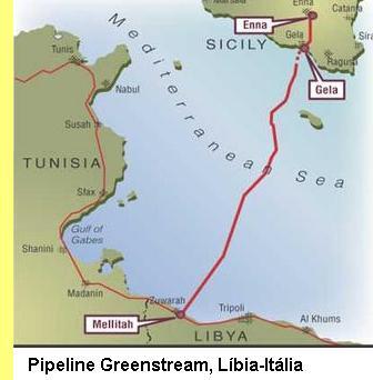 Pipeline Líbia-Itália.