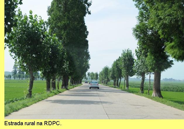 Estrada rural na RDPC.