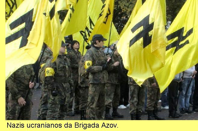 Brigada nazi na Ucrânia.