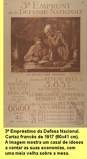 Cartaz francs de 1917.