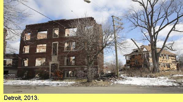 A decadência da falida cidade de Detroit.