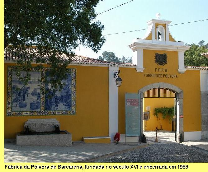 Antiga Fábrica da Pólvora de Barcarena, hoje museu.