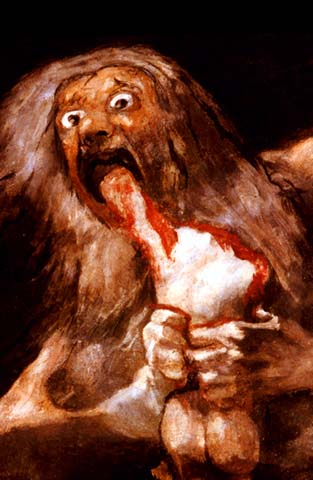 Goya, 'O filho de Saturno'.