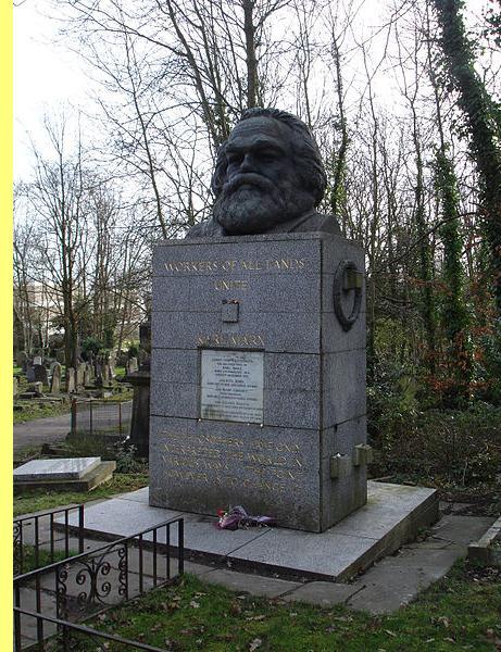 Túmulo de Marx, em Londres.