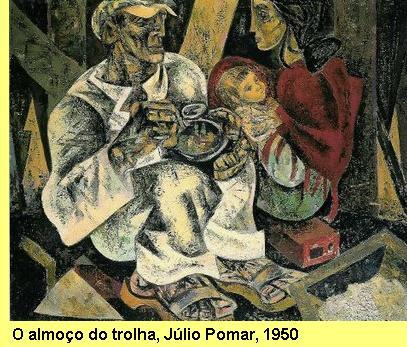 Tela de Júlio Pomar, 1950.