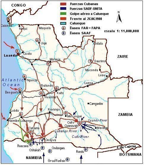Mapa de Angola.