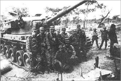 Tanque Olifant sul-africano capturado por soldados cubanos.