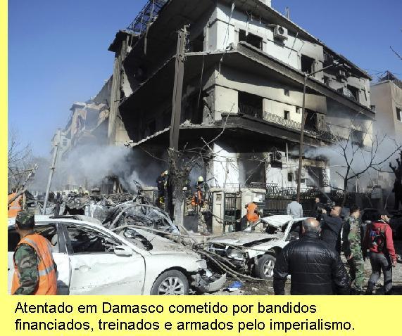 Atentado em Damasco.
