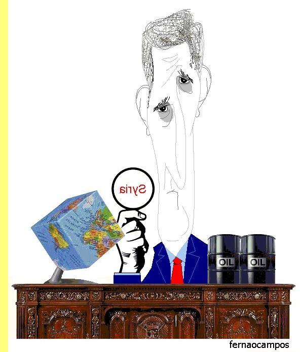 John Kerry, cartoon de Fernão Campos.