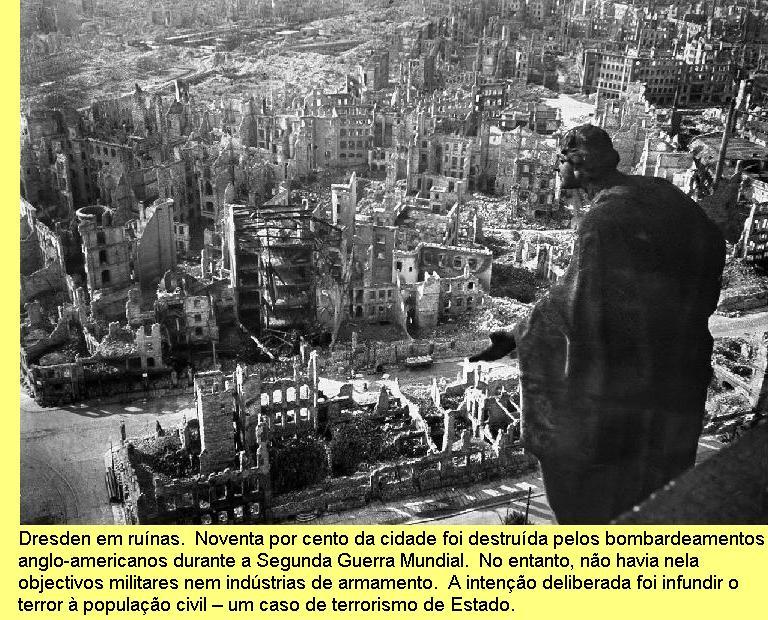 Dresden em ruínas.