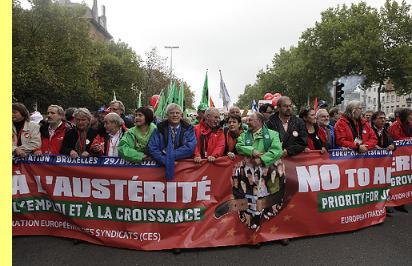 'Manifestação em Bruxelas, 29/Setembro/2010.