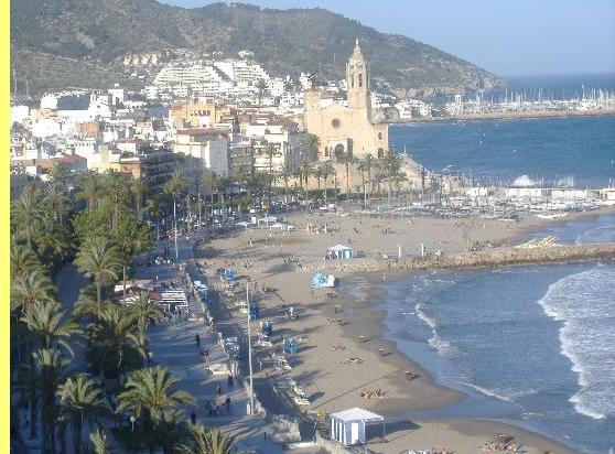 Sitges, na costa catalã.
