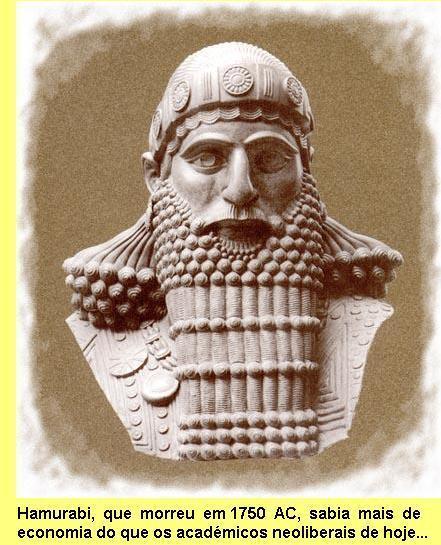 O autor do 'Código de Hamurabi'.