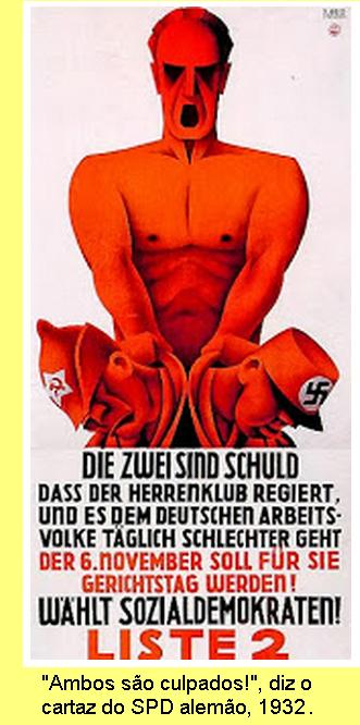 Cartaz de 1932 dos sociais-democratas alemães.