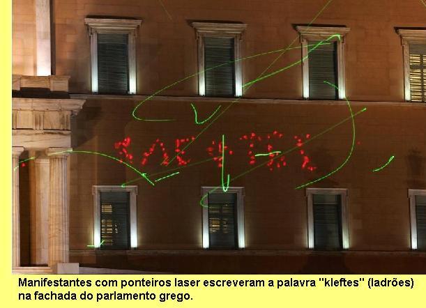 Fachada do parlamento grego.