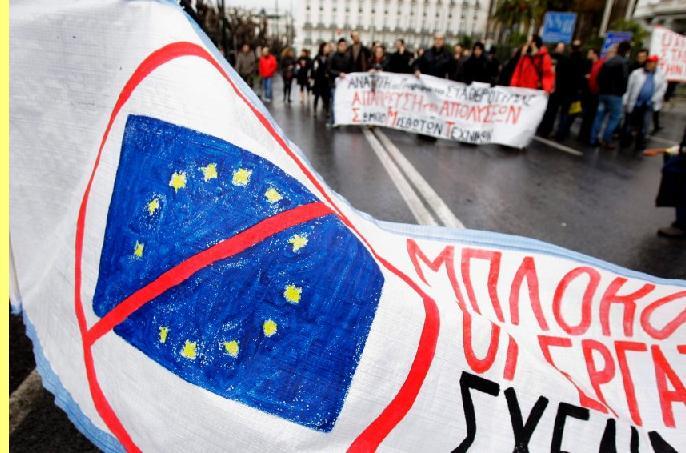 Protesto contra a UE.