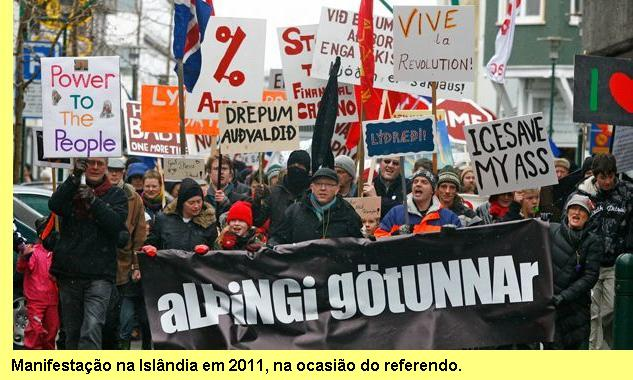 Manifestação pelo referendo.