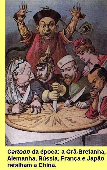 O domínio imperialista na sequência das guerras do ópio.