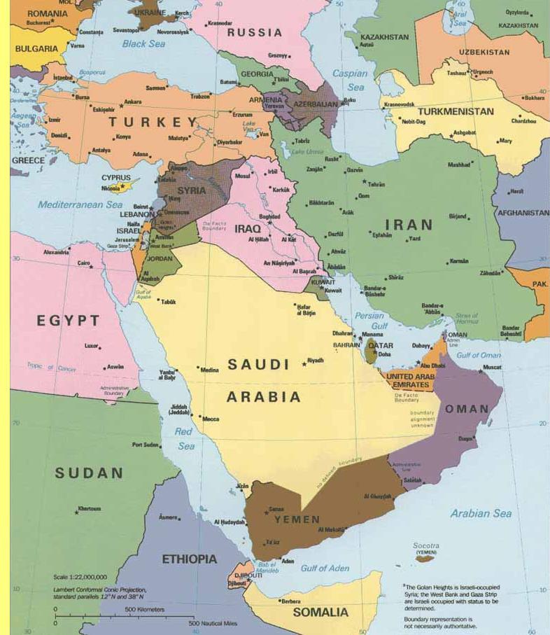 Médio Oriente.