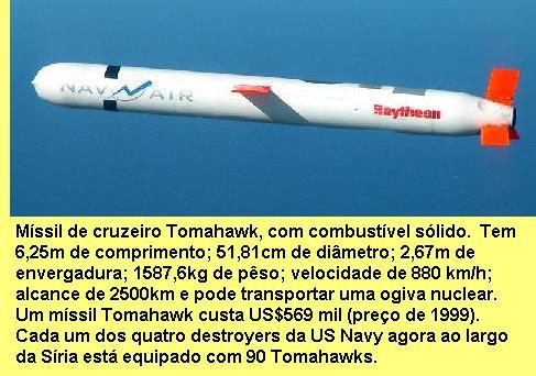 Míssil Tomahawk.