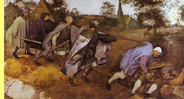 'Parábola dos cegos', Bruegel, 1568, Galeria Nacional, Nápoles.