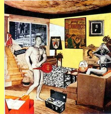 Richard Hamilton, 1956, pintura e colagem.