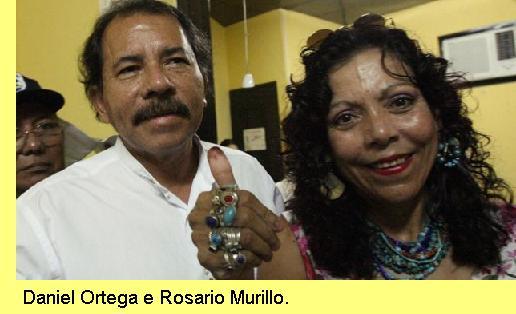 Ortega e Rosário Murillo.