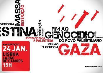 Manifestação, sábado, 24 de Janeiro.