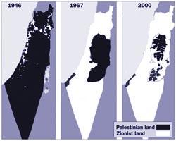 O 'encolhimento' da Palestina.