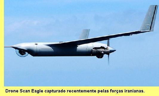 Drone Scan Eagle capturado pelas forças iranianas.