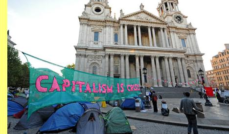 Protesto do movimento Occupy em Londres.