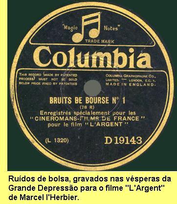 Ruídos de bolsa, gravados em 1928..