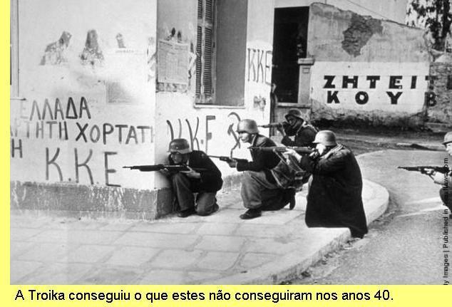 A Grécia sob a ocupação militar da Alemanha nazi.