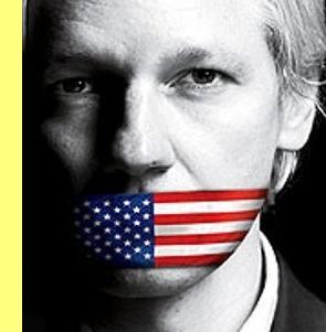 Julian Assange, ameaçado de extradição para os EUA.