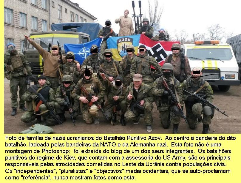 Nazis do batalhão punitivo Azov.