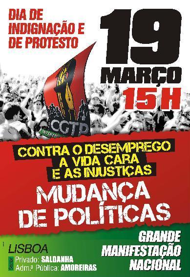 19 de Março, manifestação nacional.