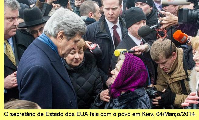 John Kerry em Kiev.
