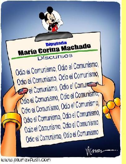 Cartoon de Vicman: O discurso da sra. Corina.