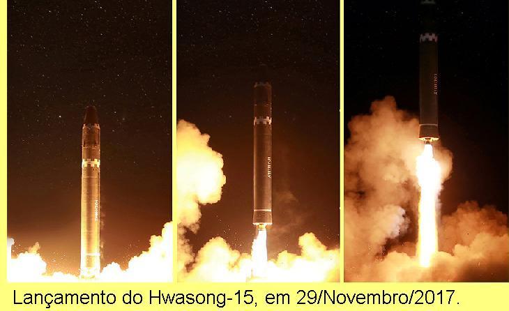 Disparo do Hwasong-15.